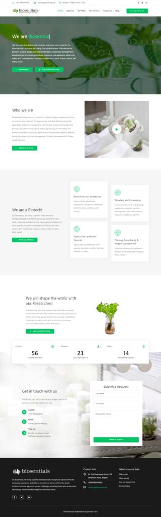 biosentials website