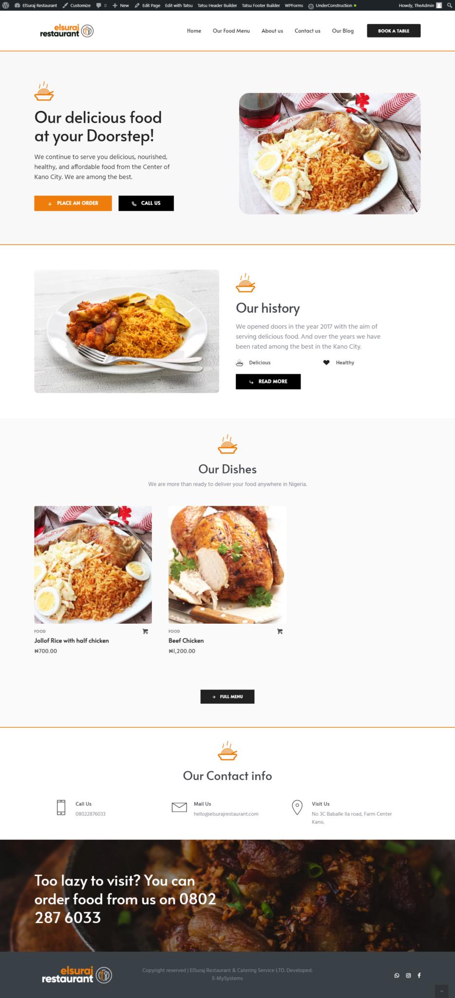 elsuraj restaurant website